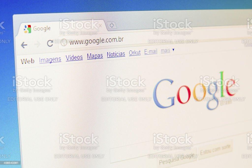 Brazilian Google Website royalty-free stock photo