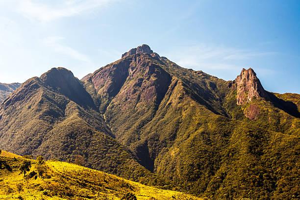 Brazilian highlands Mantiqueira range Pico dos Marins in Brazil stock photo