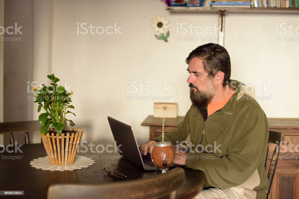 Brazilian Home Office - Royalty-free Adult Stock Photo