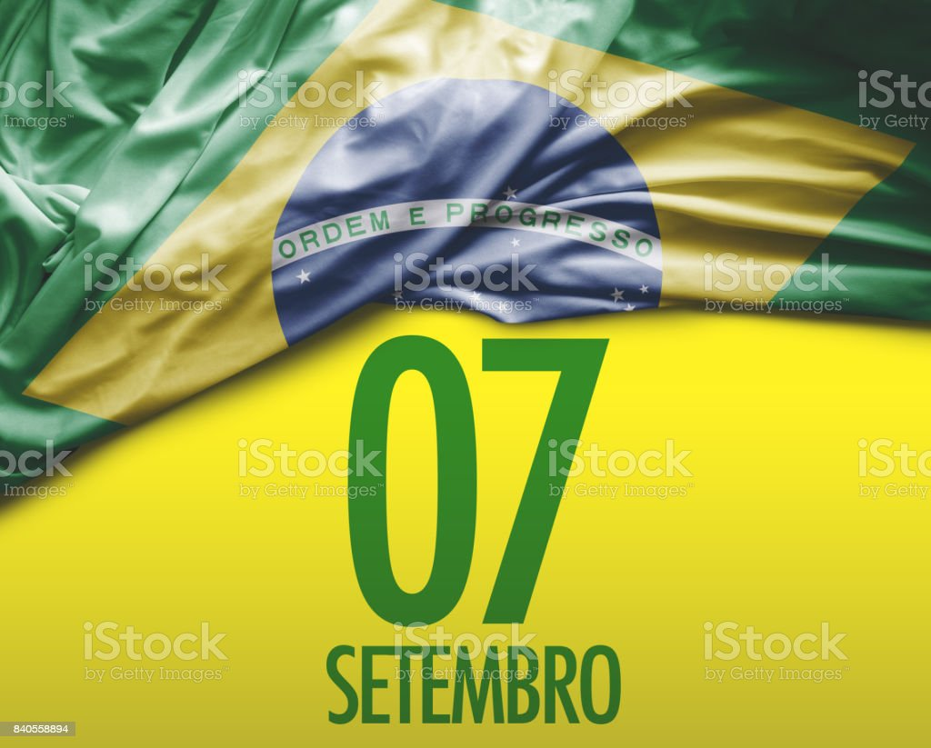 Brazilian Independence Day. September, 7 stock photo