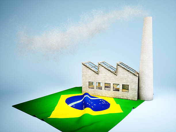 Brazilian industry development stock photo