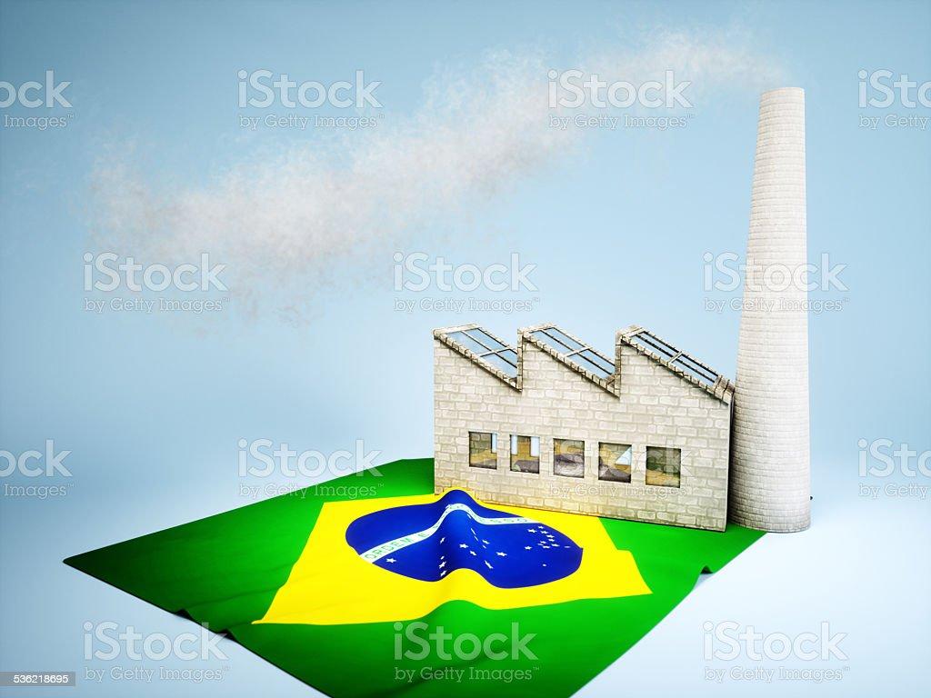 Brazilian industry development stock photo