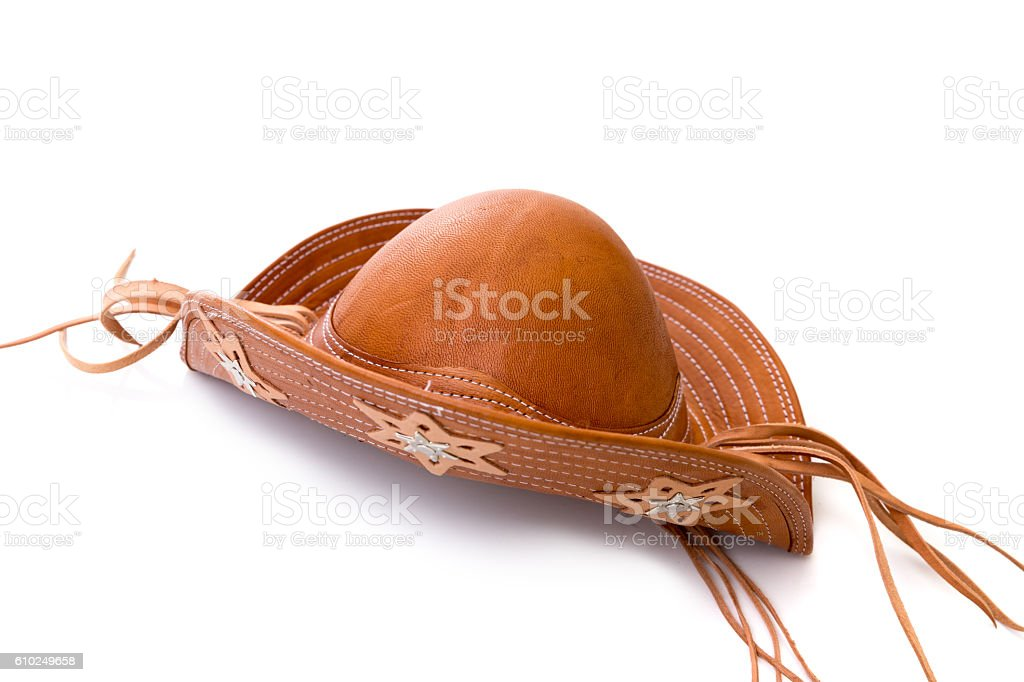 Brazilian leather hat, typical of the northeast Brazilian people stock photo