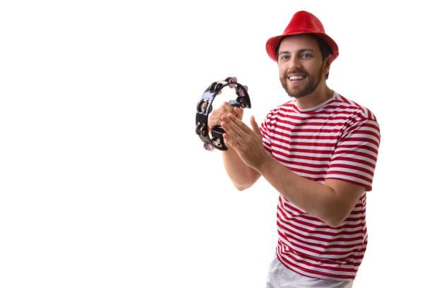 brazilian man playing samba - samba imagens e fotografias de stock