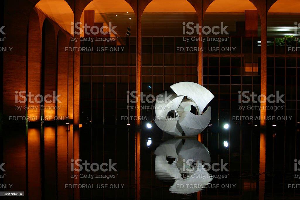 Brasileira Ministério das relações externas, Itamaraty Palace foto royalty-free