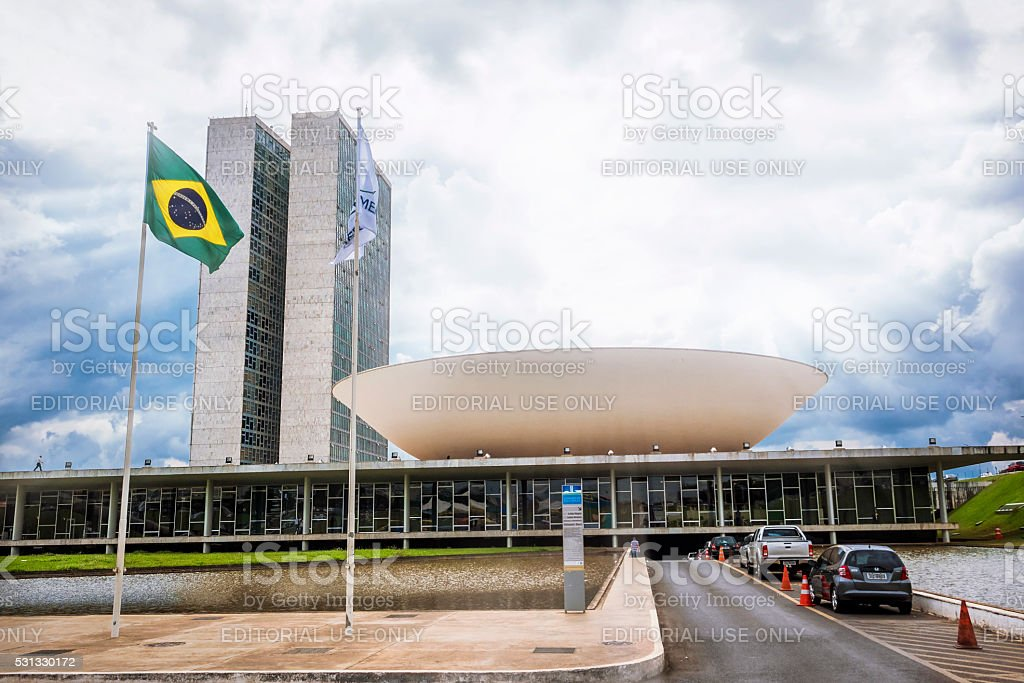 Brazilian National Congress in Brasilia, Brazil stock photo
