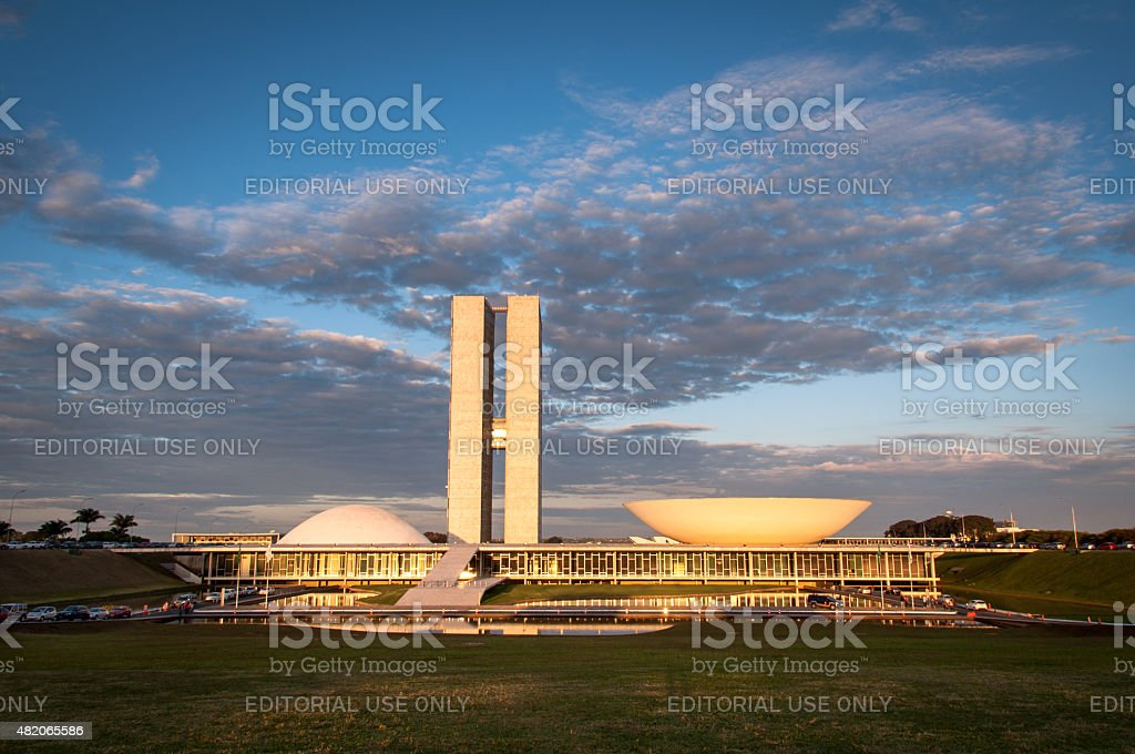 Brazilian National Congress stock photo