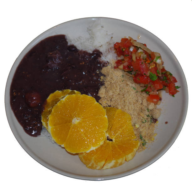 Brazilian National Dish - Stew with black beans stock photo