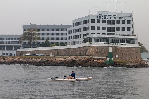 Brazilian Naval Academy in Guanabara Bay, Rio de Janeiro