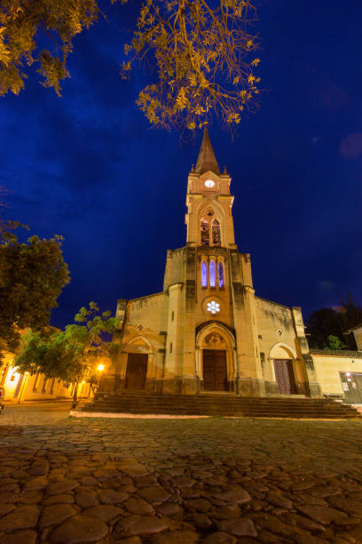 Brazilian Old Church CITY OF GOIAS, BRAZIL - JANUARY 2, 2018: Old church in the historic centre of City Of Goias on January, 2018, City Of Goias, Brazil. goiás city stock pictures, royalty-free photos & images