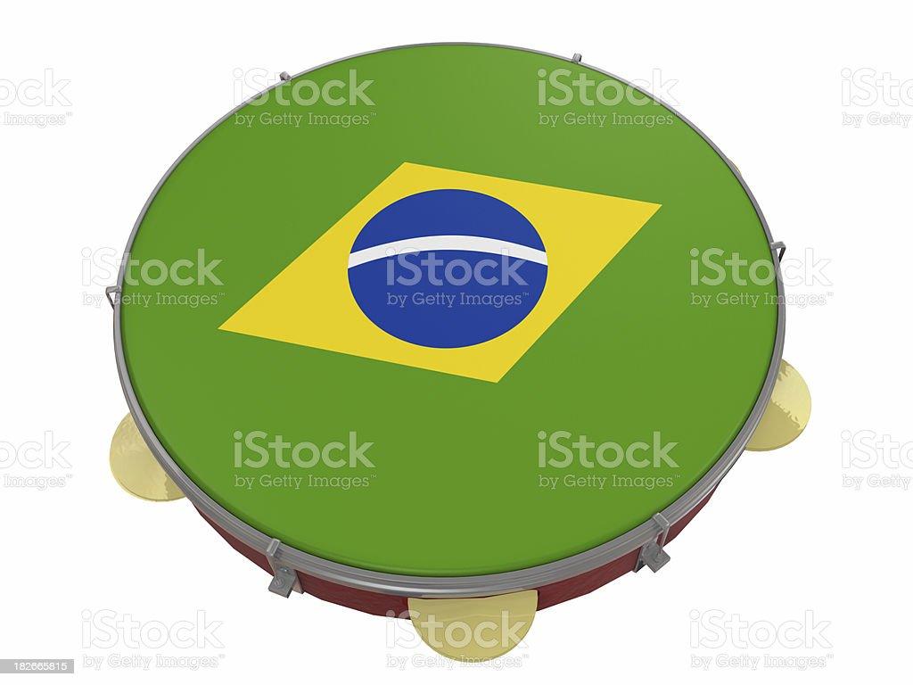 Brazilian Pandeiro royalty-free stock photo