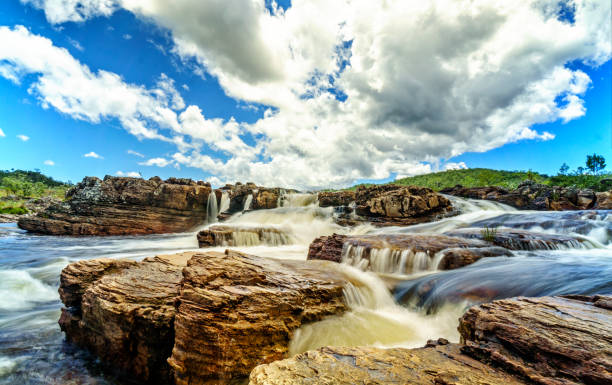 Brazilian rapids Rapids of a river in the Chapada Dos Veadeiros National Park  in the state of Goias in central rural Brazil goias stock pictures, royalty-free photos & images