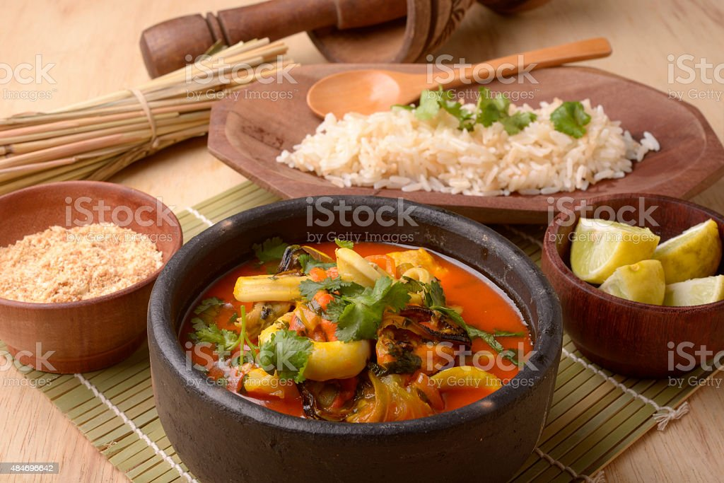 Brazilian Seafood Stew - Moqueca stock photo