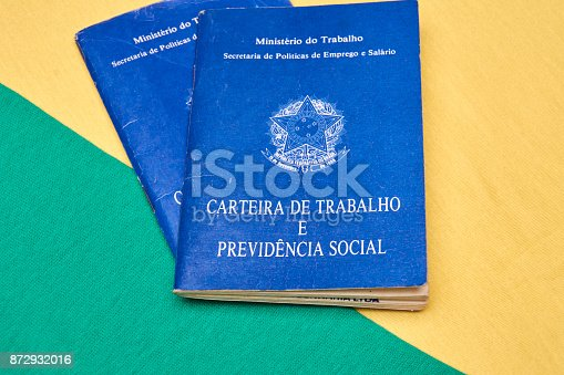 872976132 istock photo Brazilian social security document 872932016
