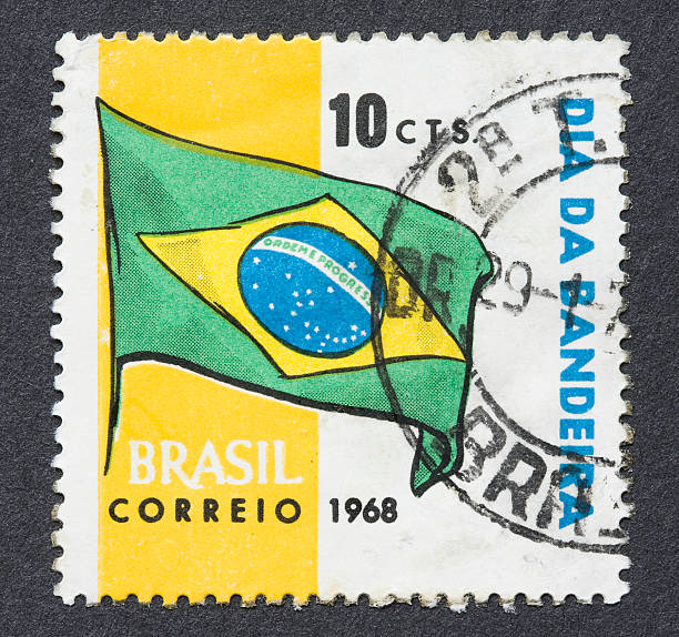 Brazilian stamp stock photo