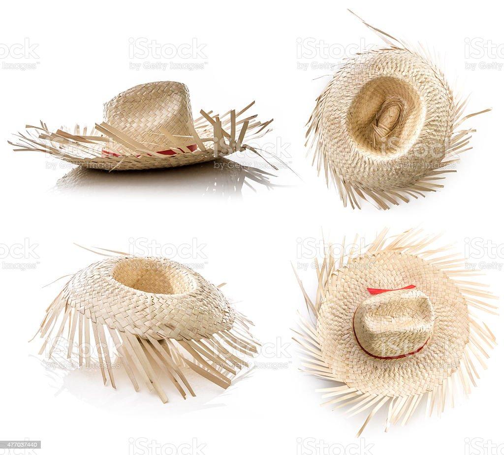 Brasileiro chapéu de palha na mesa (Festa Junina Theme) - foto de acervo
