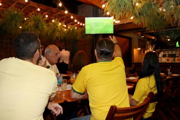 Brazilian supporters stock photo