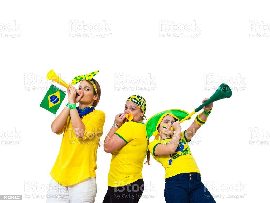 Fãs brasileiros de três - foto de acervo