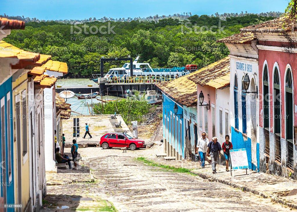 Brazilian town - Alcantara, Maranhao. stock photo