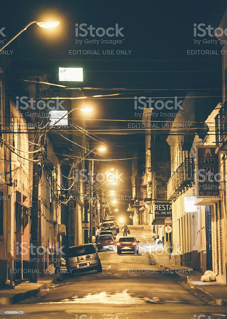 Brazilian town by night. royalty-free stock photo