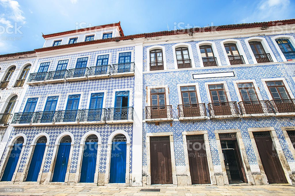 Brazilian town. royalty-free stock photo