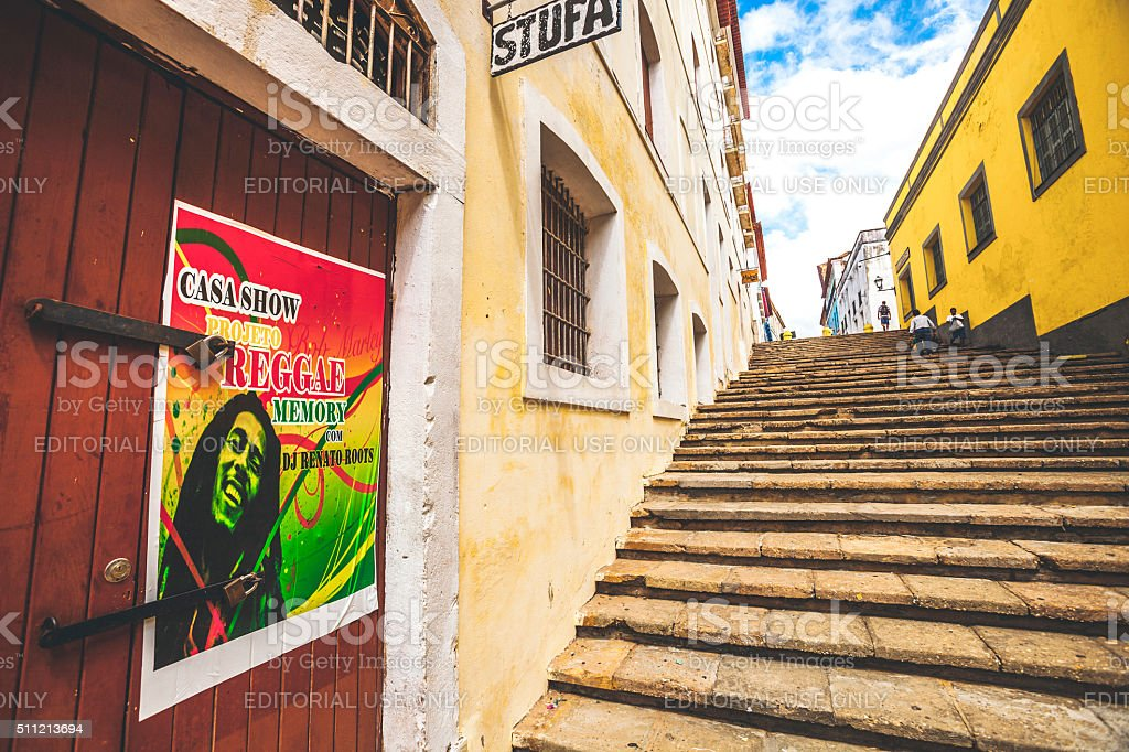 Brazilian town. Sao Luis, Maranhao. foto