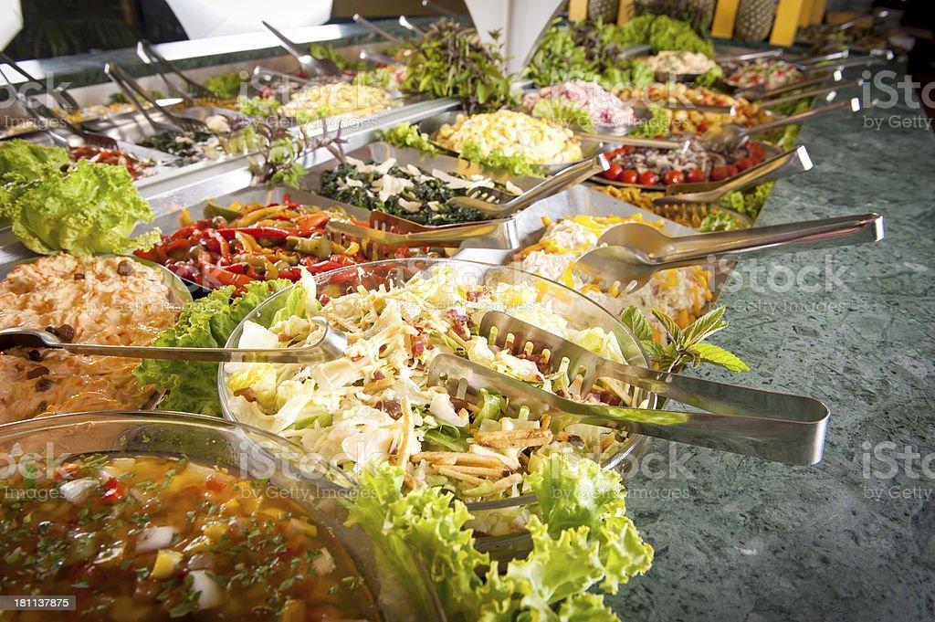 Brazilian Typical Food Buffet Restaurant stock photo