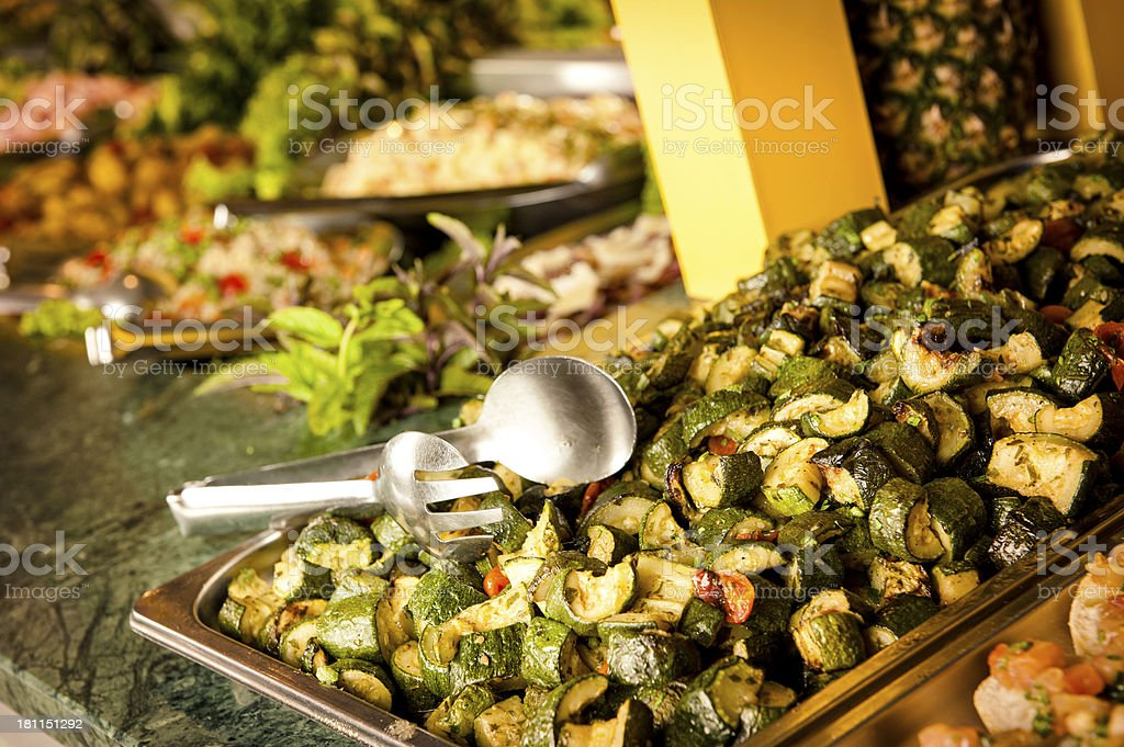 Brazilian Typical Food Buffet Restaurant stock photo