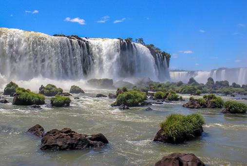 Brazilian Waterfalls in Foz do Iguaçu, Brazil