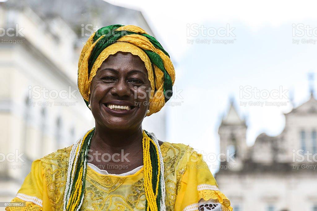 Brazilian woman of African descent, Bahia, Brazil - foto de acervo