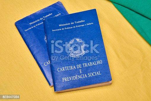 872976132 istock photo Brazilian work books or document work 823447034