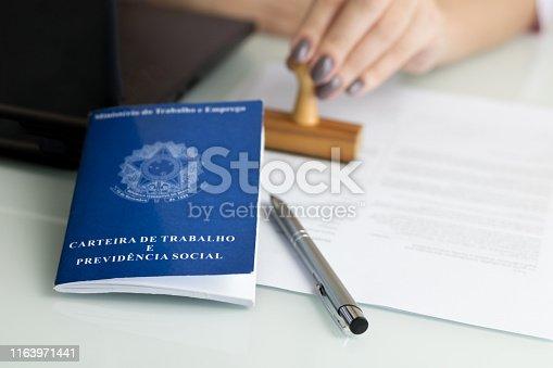 istock Brazilian work permit 1163971441