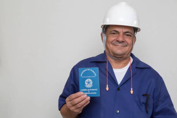 Brazilian worker stock photo