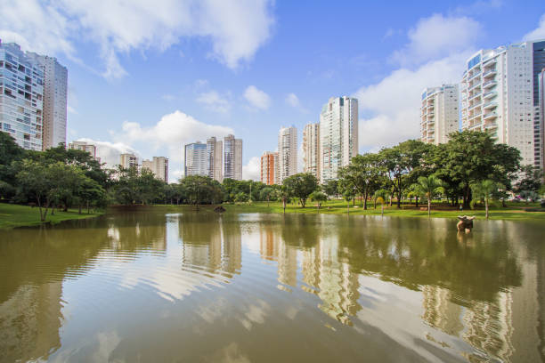 Braziliana Park Many people have fun in this beautiful Park in Goiania city goiás city stock pictures, royalty-free photos & images