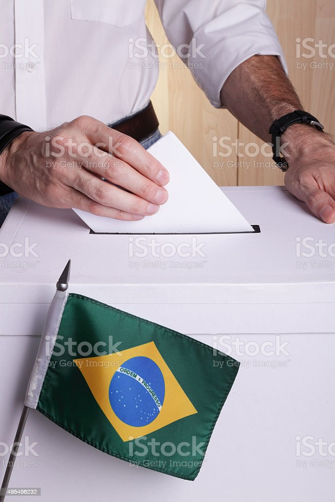 Brazilians to vote royalty-free stock photo
