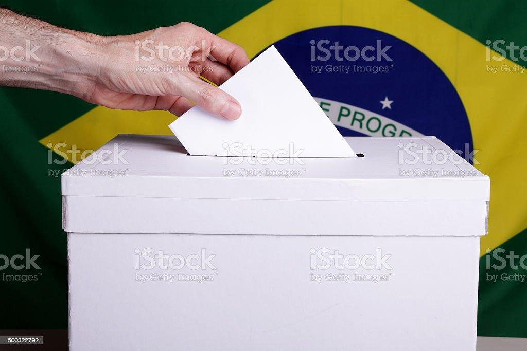Brazilians to vote royalty-free stock photo