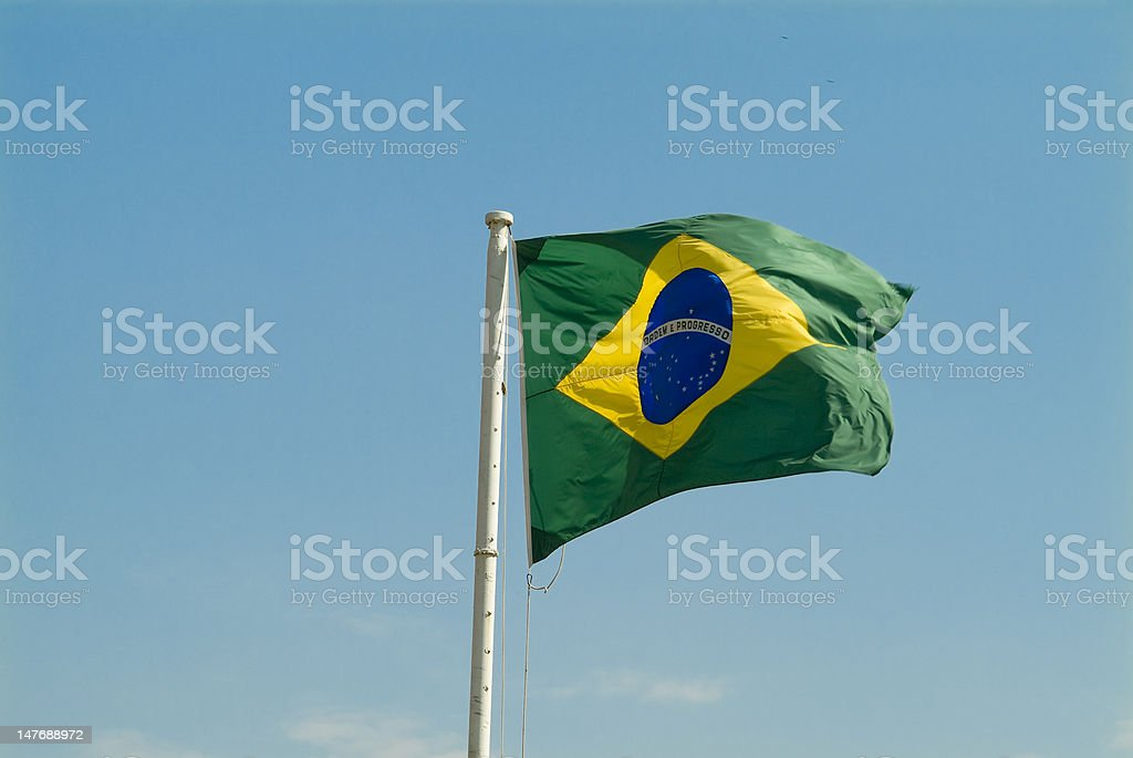 Brazillian Flag stock photo