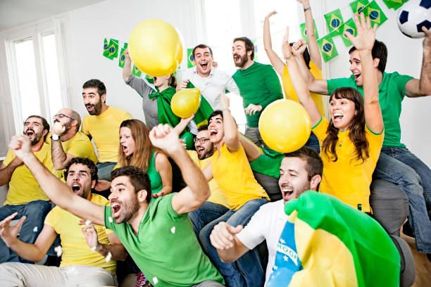 Brazillian supporters stock photo