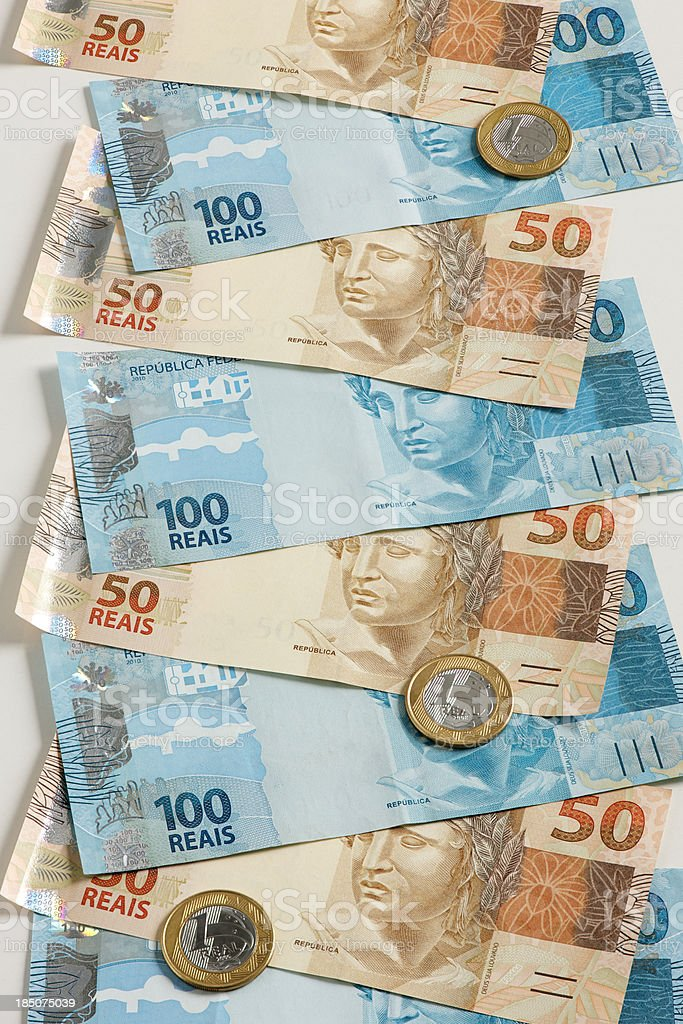 Brazil's currency royalty-free stock photo