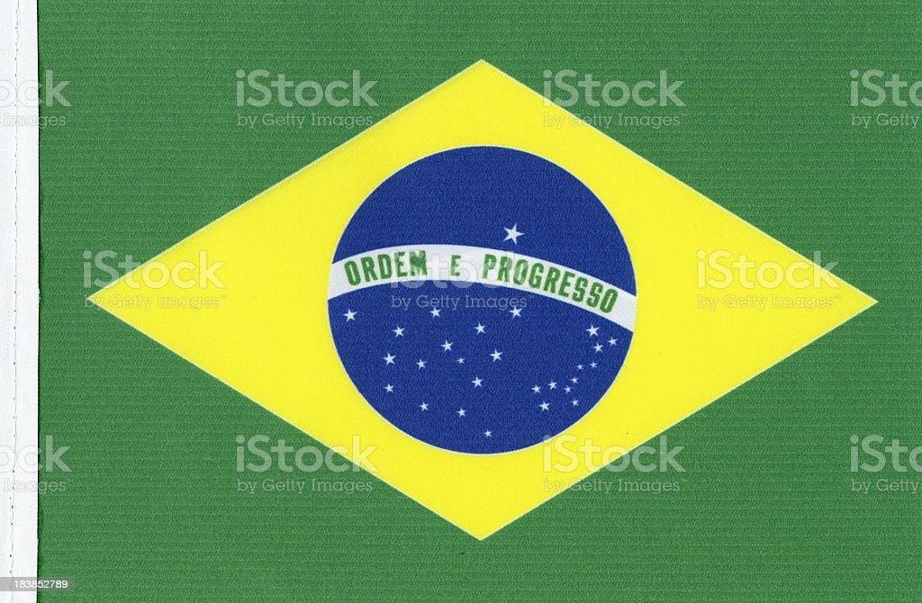 Brazil's flag canvas. royalty-free stock photo