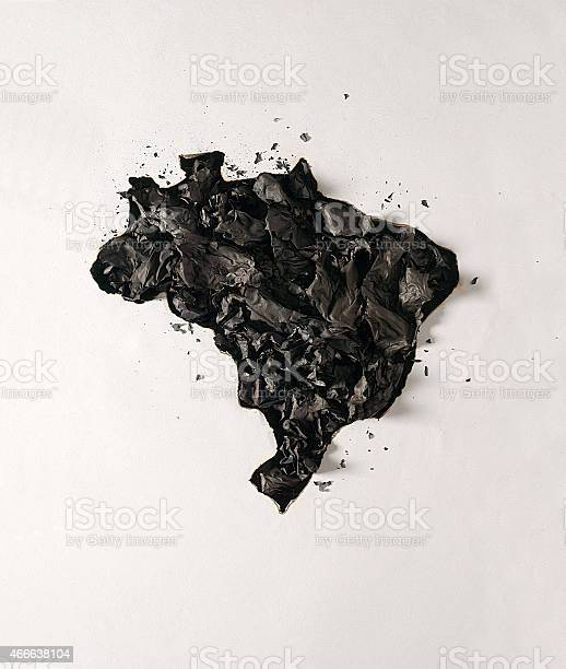 Photo of Brazil's map on fire