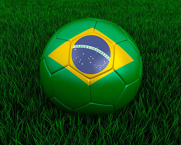 Brazlilian soccer ball stock photo