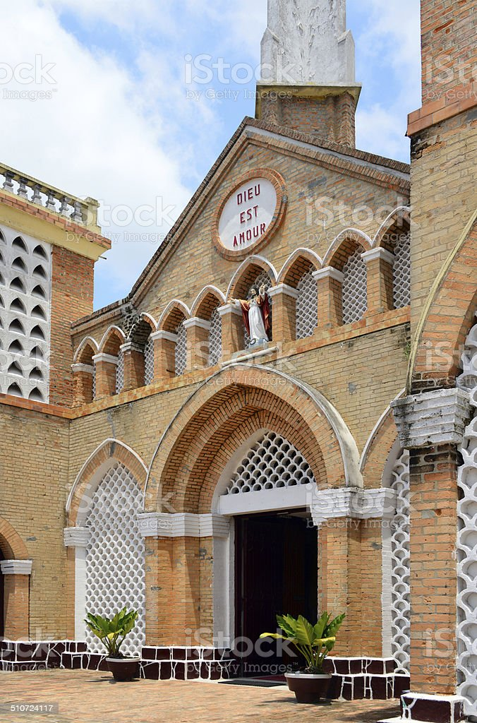 Brazzaville, Congo: Cathedral of the Sacred Heart stock photo