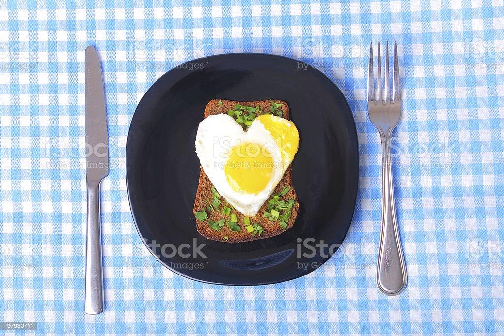 breackfast with love royalty-free stock photo