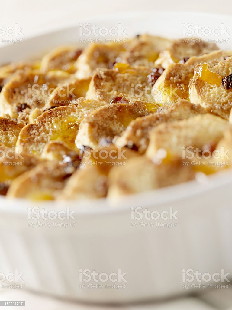 Bread & Butter Pudding stock photo