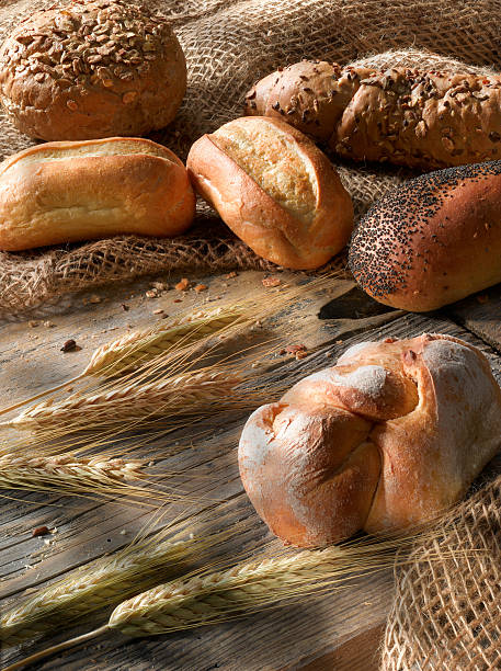 Bread and bakeries. stock photo
