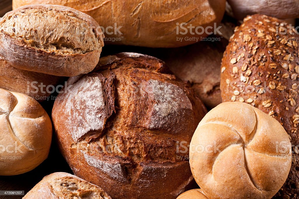 Bread and buns, Bakery stock photo