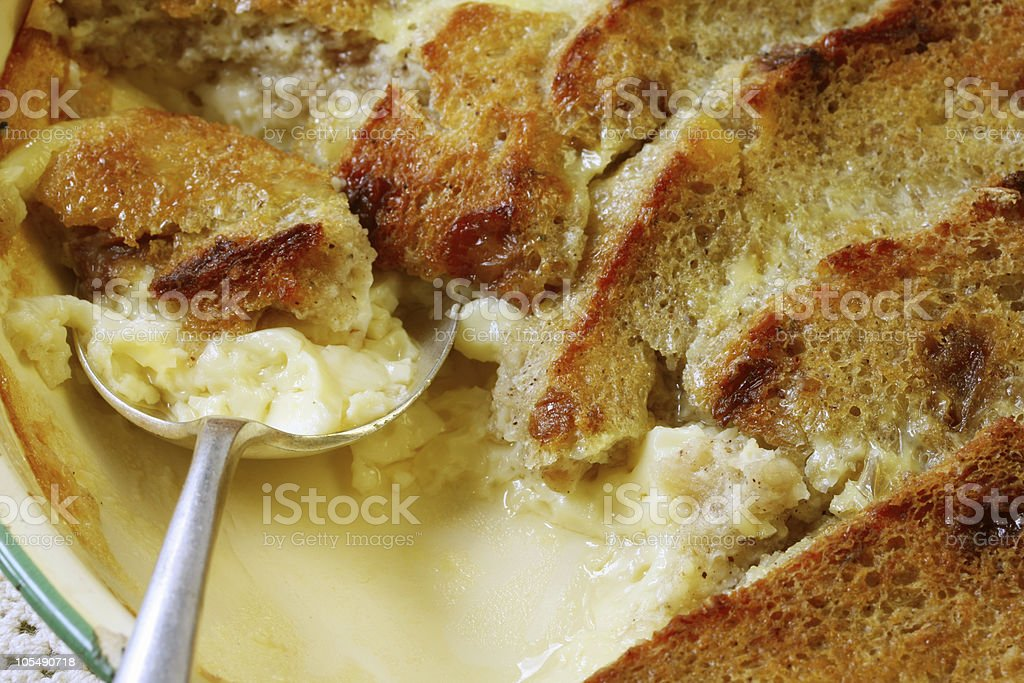 Bread and Butter Pudding stock photo