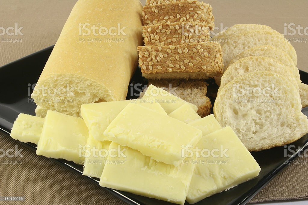 bread and cheese - Royalty-free Antipasto Stock Photo