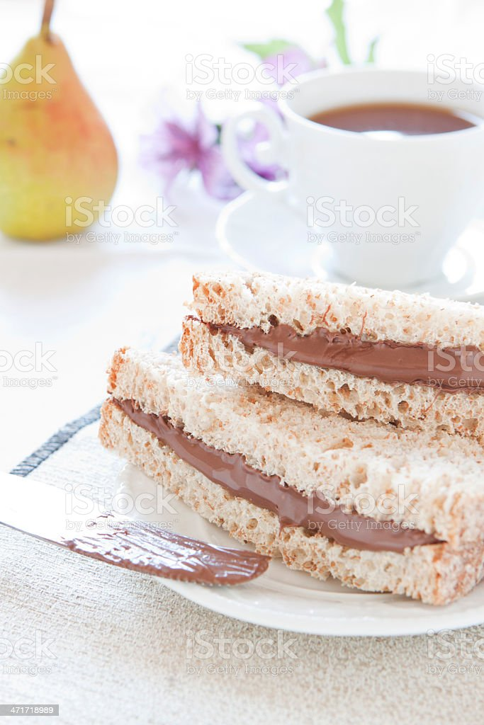 Bread and chocolate royalty-free stock photo
